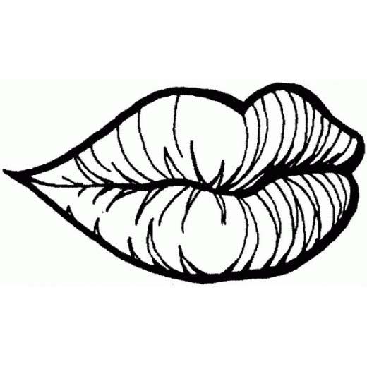 desenho de boca com batom para colorir tudodesenhos