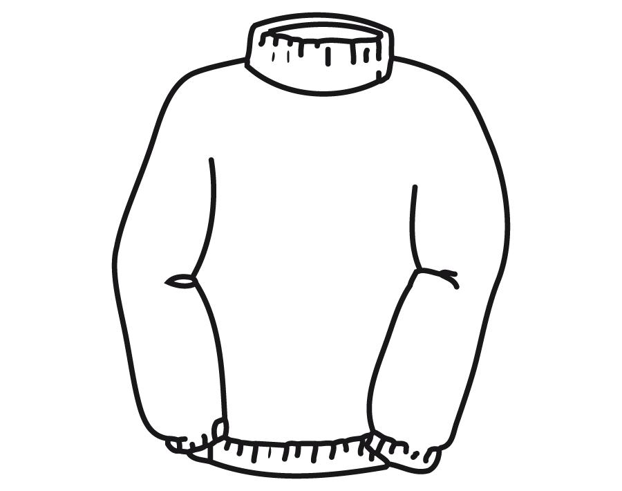 desenho de blusa de gola alta para colorir tudodesenhos