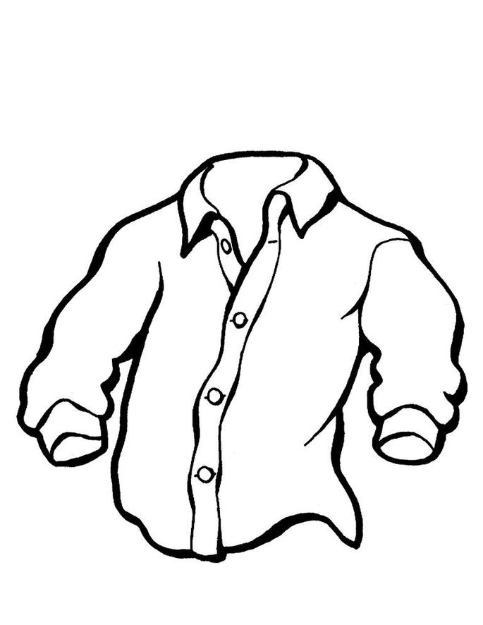 desenho de camiseta social masculina para colorir tudodesenhos