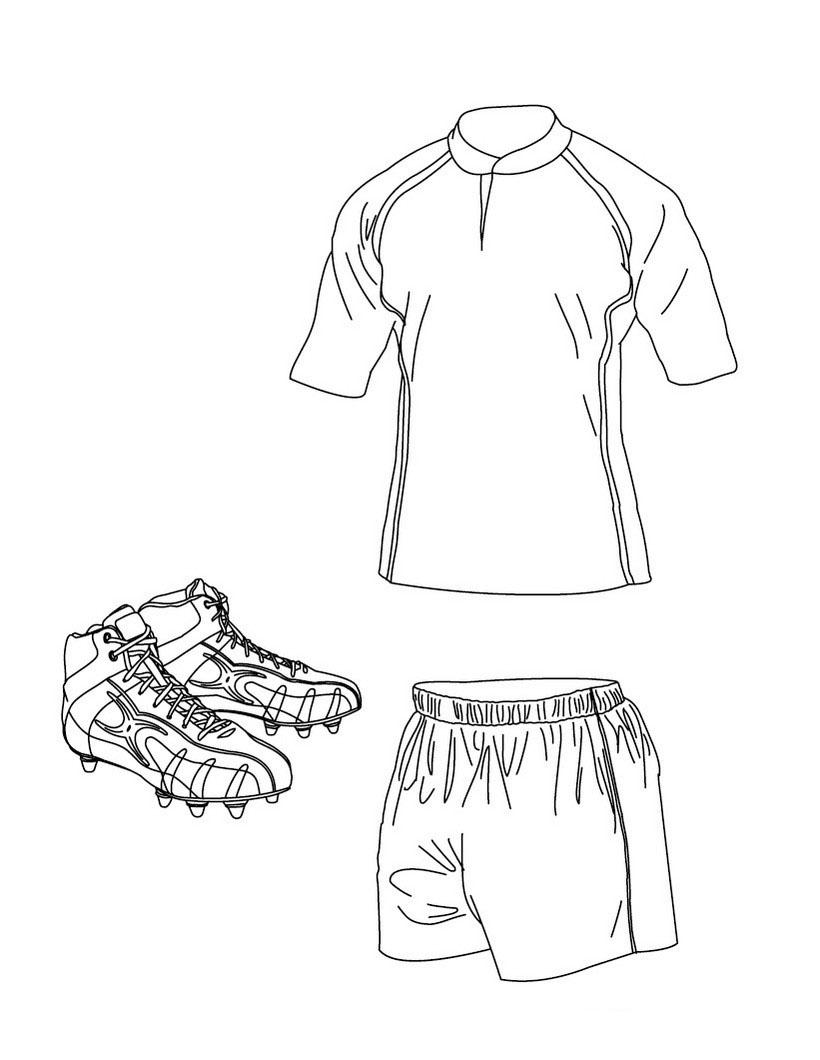 Desenho De Uniforme De Rugby Para Colorir Tudodesenhos
