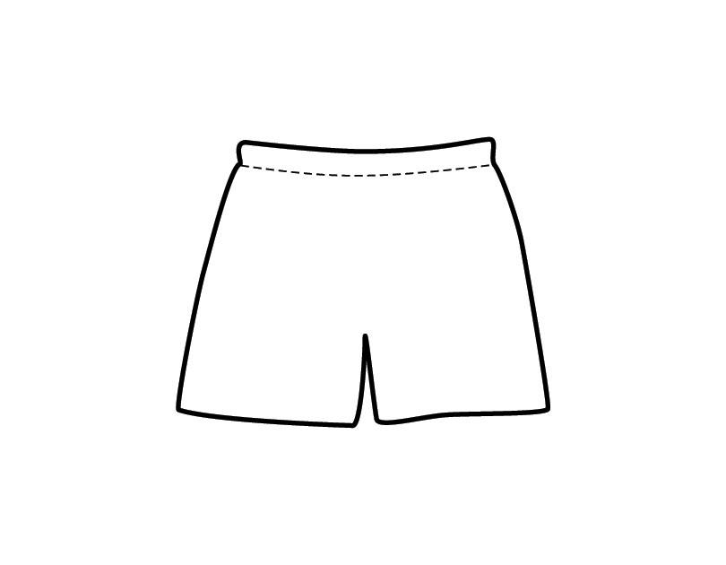Desenho de Short para colorir