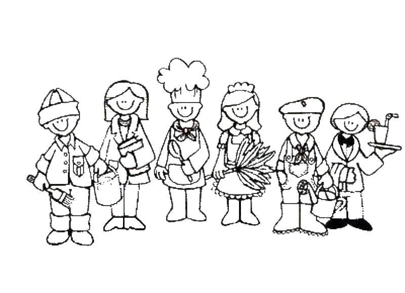 Desenho De Amigos No Dia Do Trabalho Para Colorir Tudodesenhos