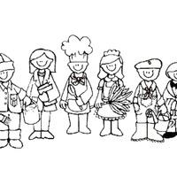 Desenho De Inclusao Social No Trabalho Para Colorir Tudodesenhos