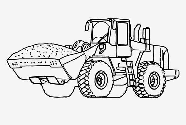 coloring pages tractors trucks - photo#12
