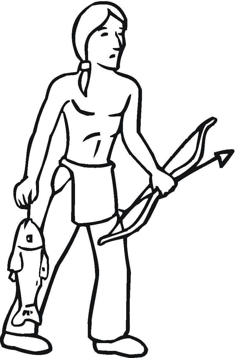 Ausmalbilder Indianer Kanu - tippsvorlage.info ...