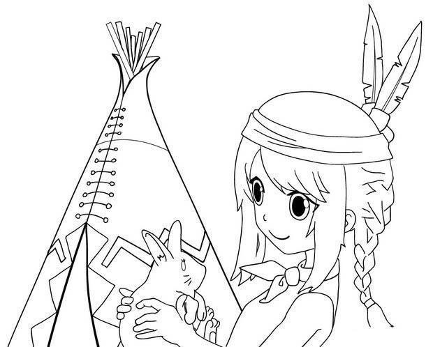 Desenho Menina Ind Gena Mang Para Colorir Tudodesenhos