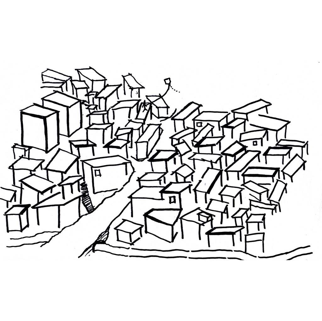 Desenho De Casas Desenho De Favela Para Colorir Tudodesenhos