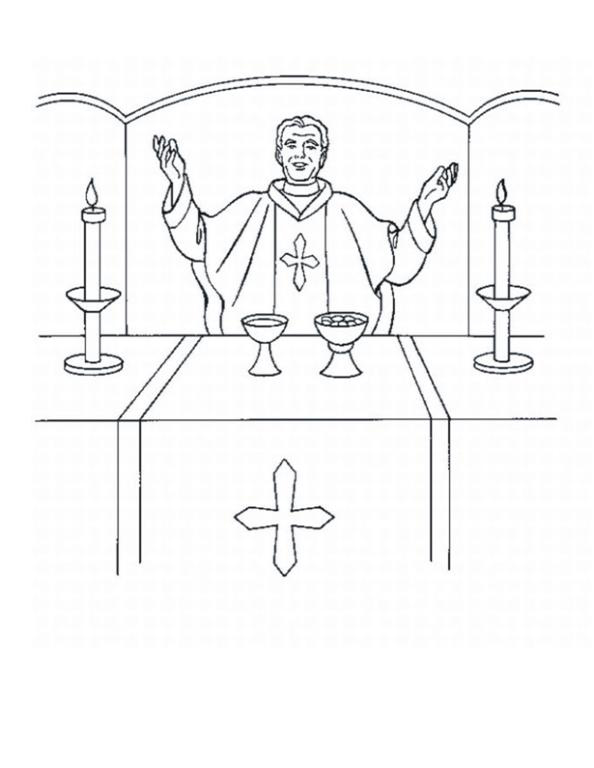 catholic coloring pages mass - photo#9