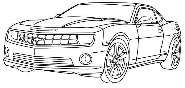 Desenho de Camaro Chevrolet para colorir