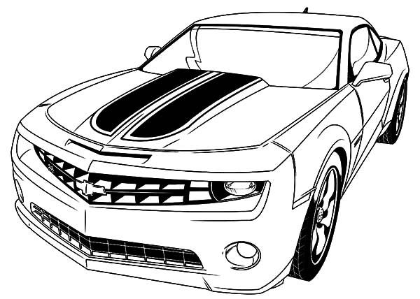 desenho de ve u00edculo camaro para colorir