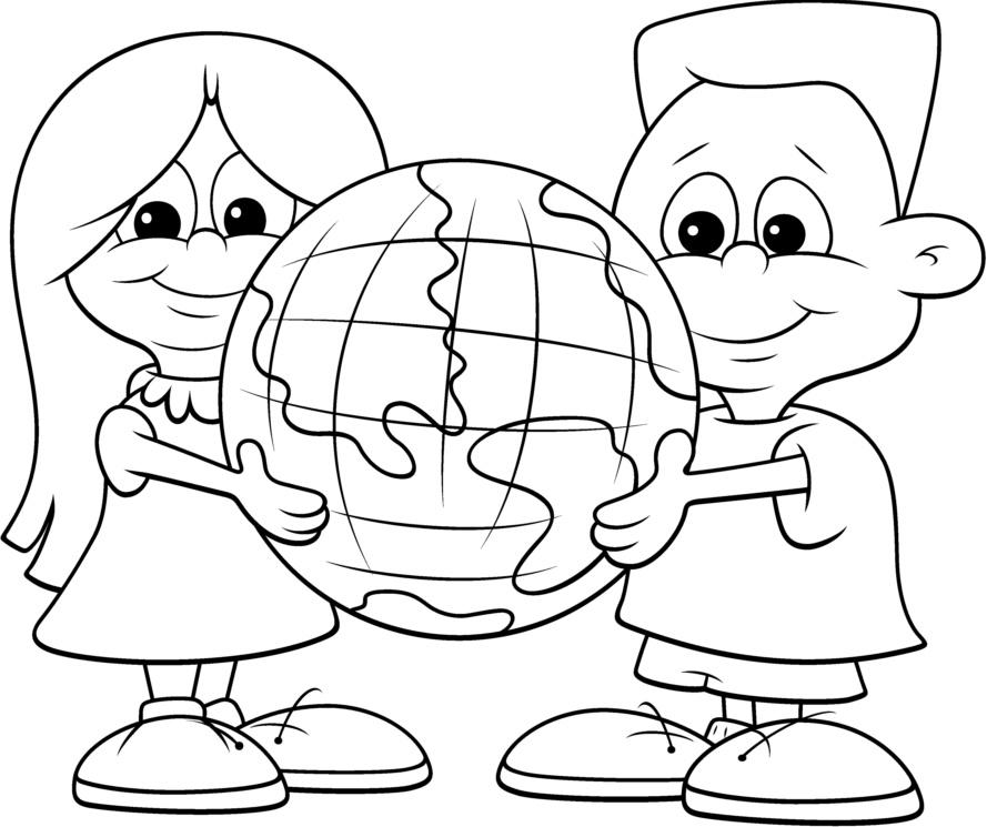 Criancas no dia do planeta terra