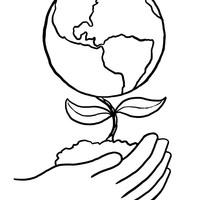 desenho de reciclagem e planeta terra para colorir tudodesenhos
