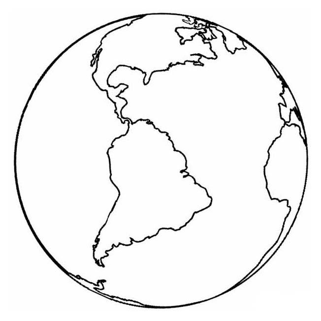 Solar For America >> Desenho de Planeta Terra e continente americano para colorir - Tudodesenhos