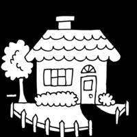 desenho de casa com jardim para colorir tudodesenhos