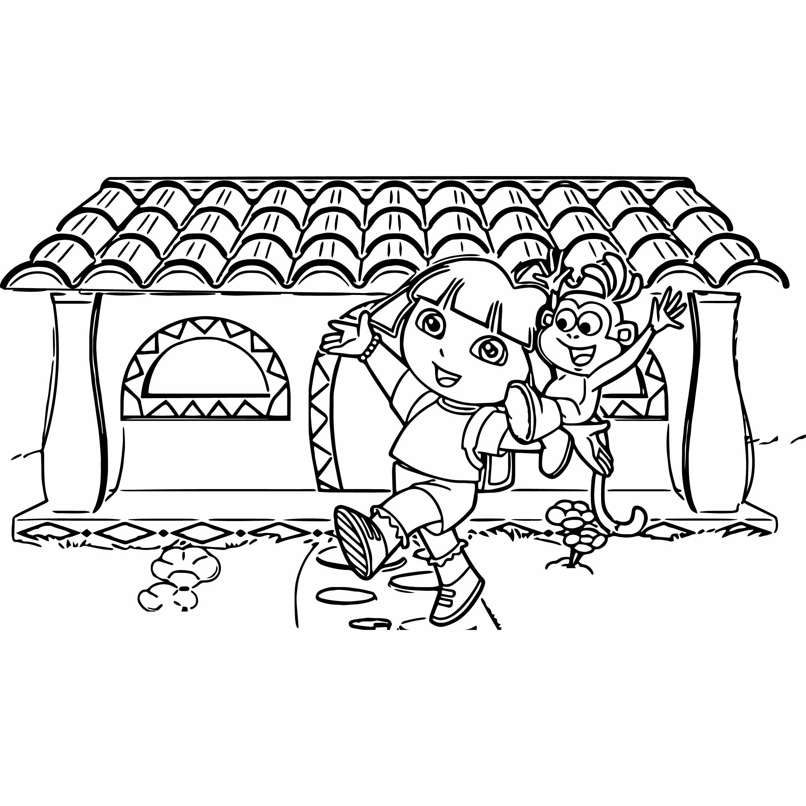 Desenho De Casa Da Dora Aventureira Para Colorir Tudodesenhos