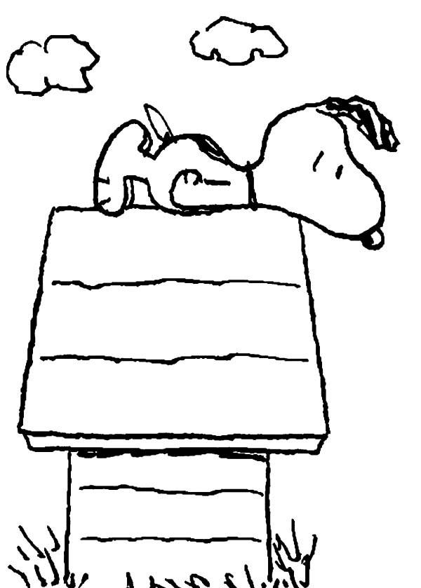 Desenho De Casa Do Snoopy Para Colorir Tudodesenhos