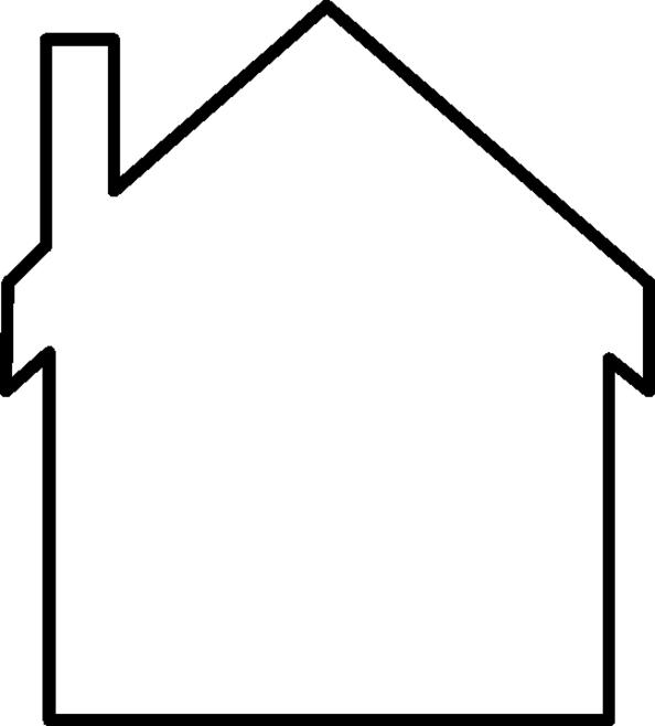 Desenho De Molde De Casa Para Colorir