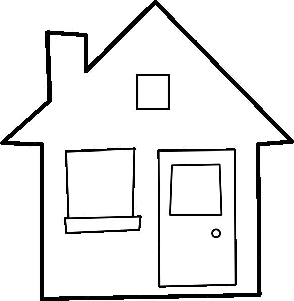 Desenho De Silhueta De Casa Para Colorir