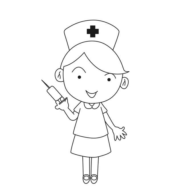 Black nurse takes care of white patient