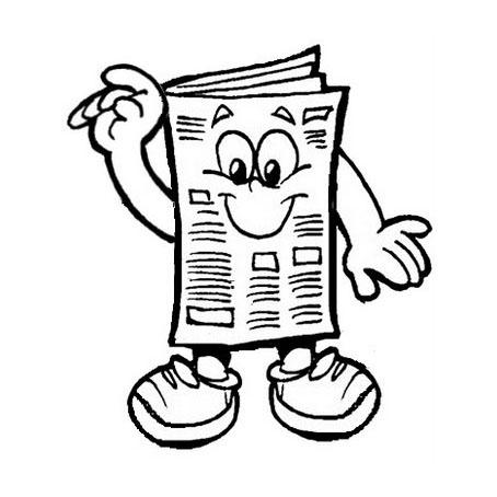 Desenho de Jornal para colorir - Tudodesenhos