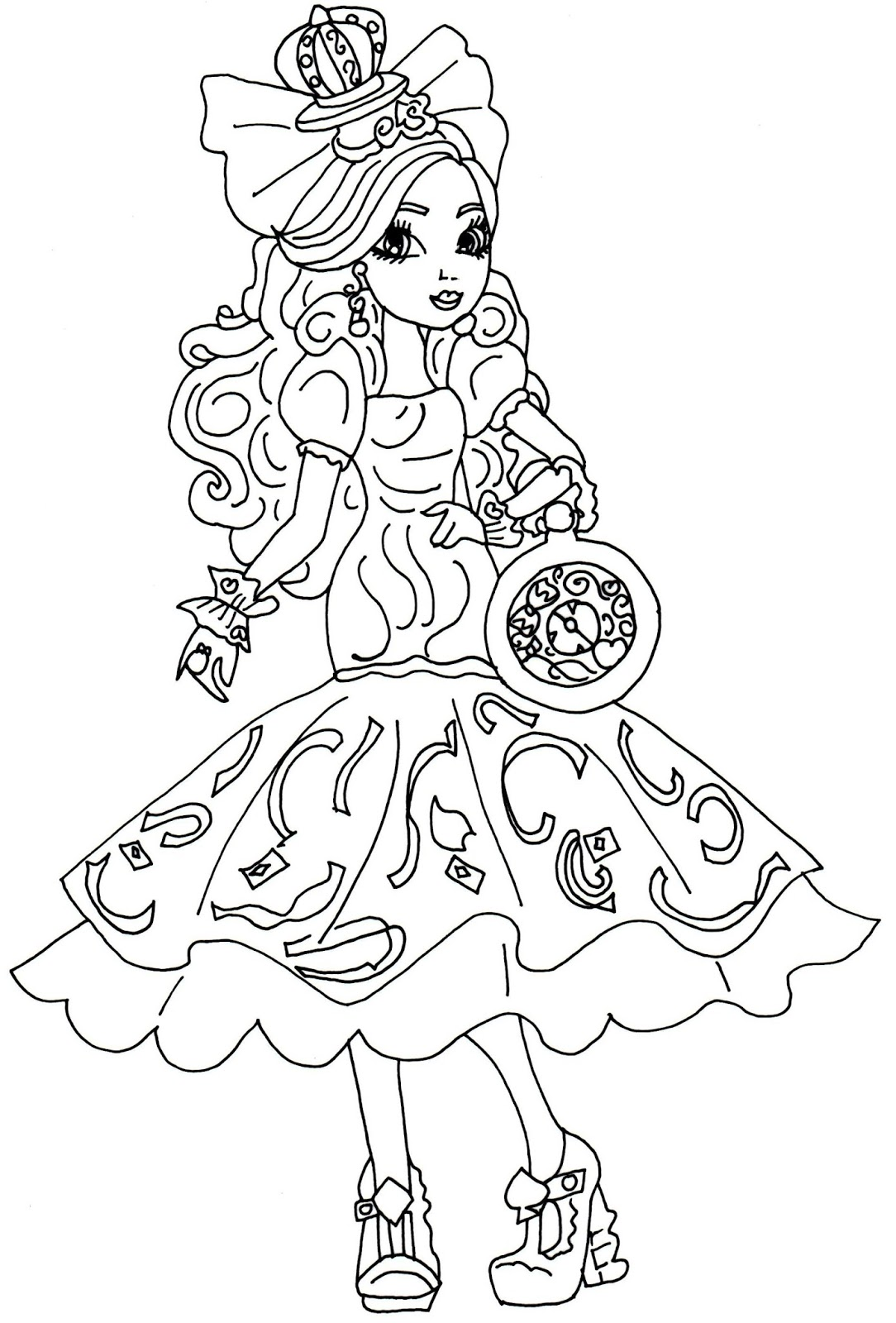 desenho de apple white de ever after high para colorir tudodesenhos