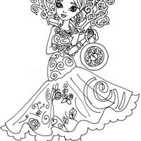 desenho de rosabella beauty de ever after high para colorir