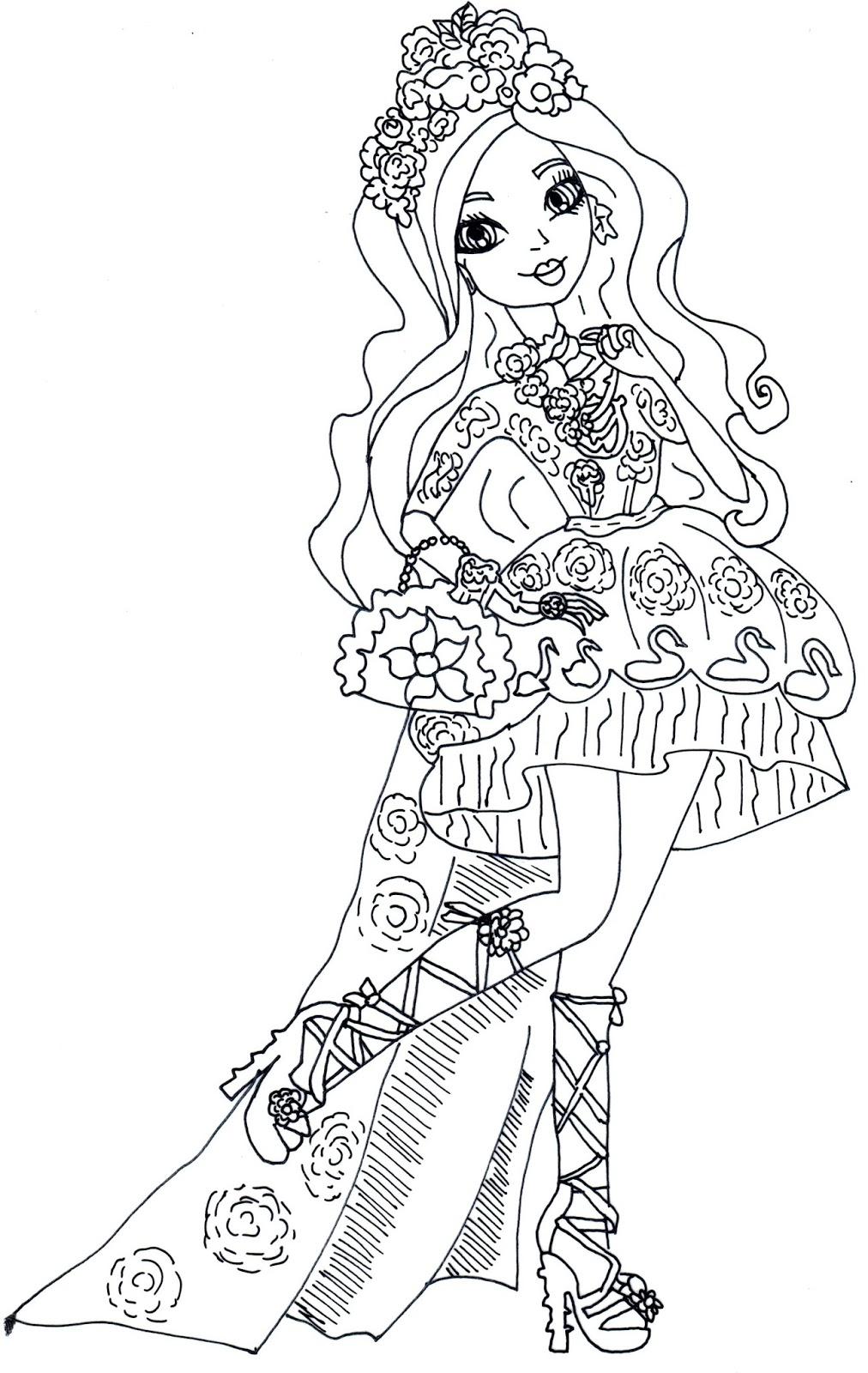 Desenho De Briar Beauty De Ever After High Para Colorir Tudodesenhos