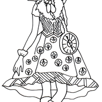 Desenho De Briar Beauty Fashion De Ever After High Para Colorir