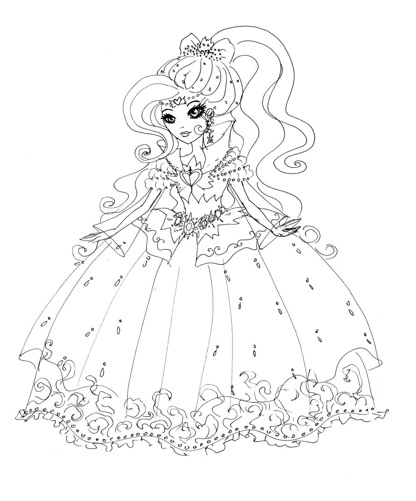 Ever After High Coloring Pages Darling Charming De Ann Black
