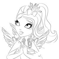 Desenho de Faybelle Thorn de Ever After High para colorir