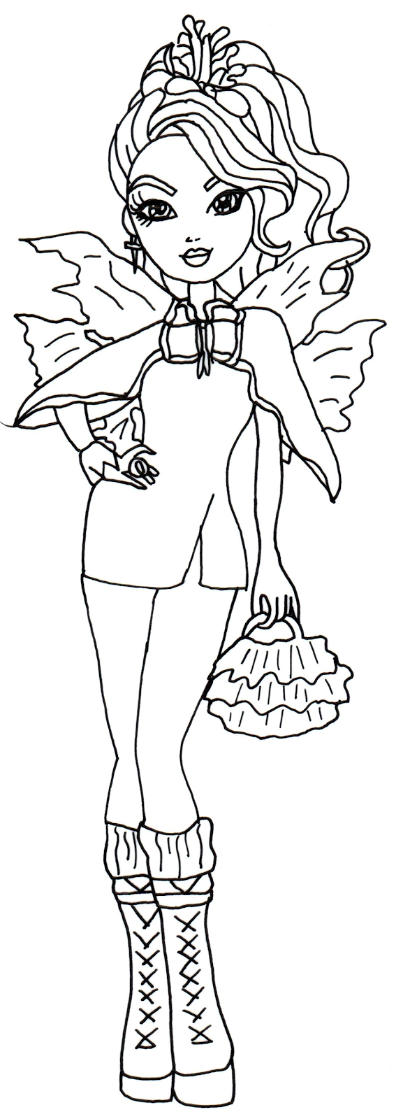 HD wallpapers ever after high rosabella beauty coloring pages