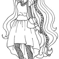 Desenho de Holly O'Hair de Ever After High para colorir