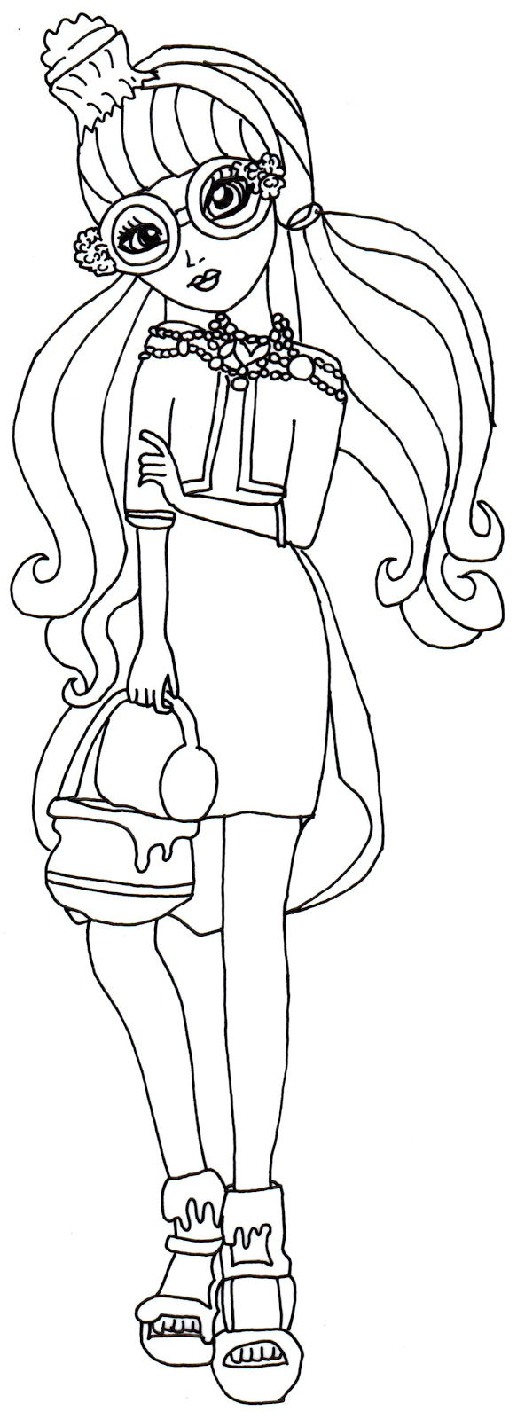 Ginger Desenho with desenho de ginger breadhouse de ever after high para colorir