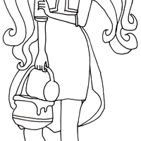 Desenho de Ginger Breadhouse de Ever After High para colorir