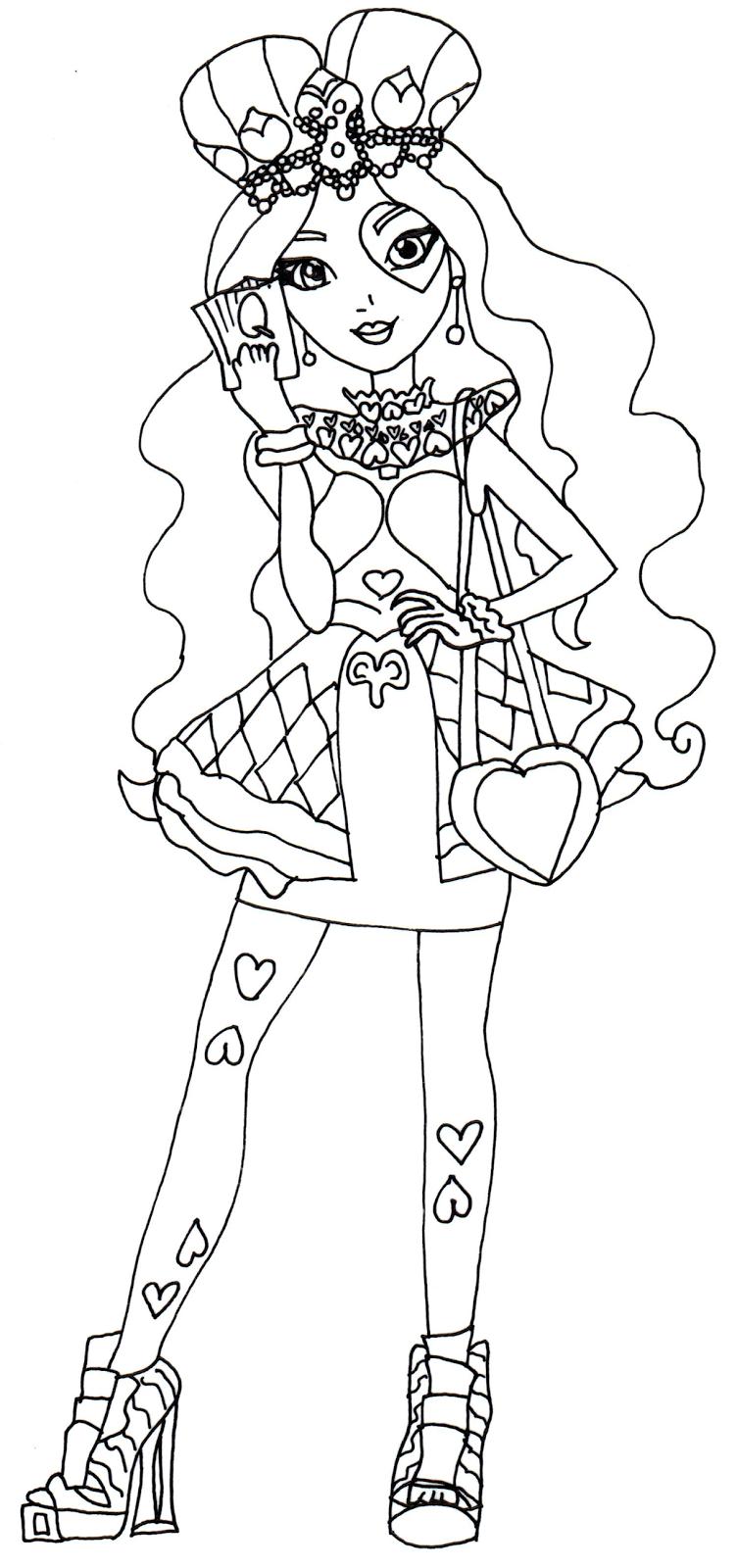 desenho de lizzie hearts para colorir tudodesenhos