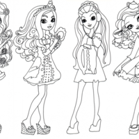 Desenho de Personagens de Ever After High para colorir