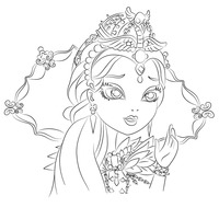 Desenho de Raven Queen de Ever After High para colorir
