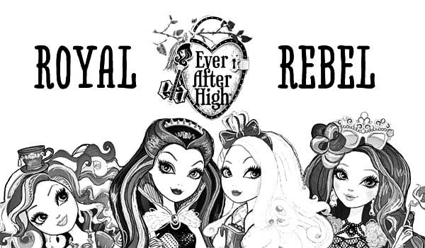 Desenho De Royal Rebel De Ever After High Para Colorir