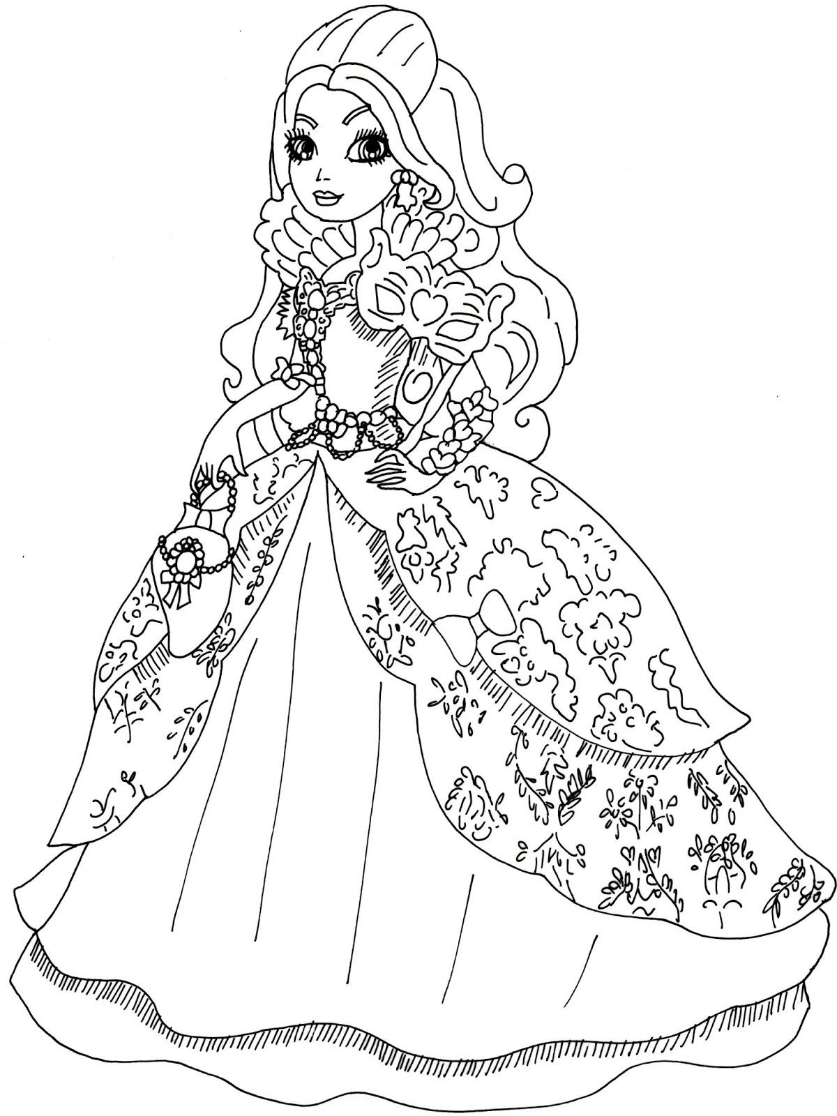 Desenho De Apple White Em Baile De Gala Para Colorir