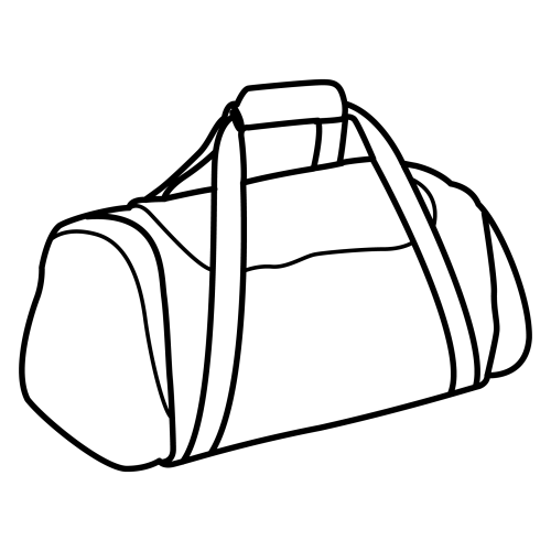 Desenho De Bolsa De Viagem Para Colorir Tudodesenhos
