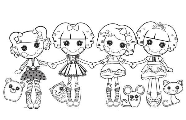 desenho de personagens lalaloopsy para colorir  tudodesenhos