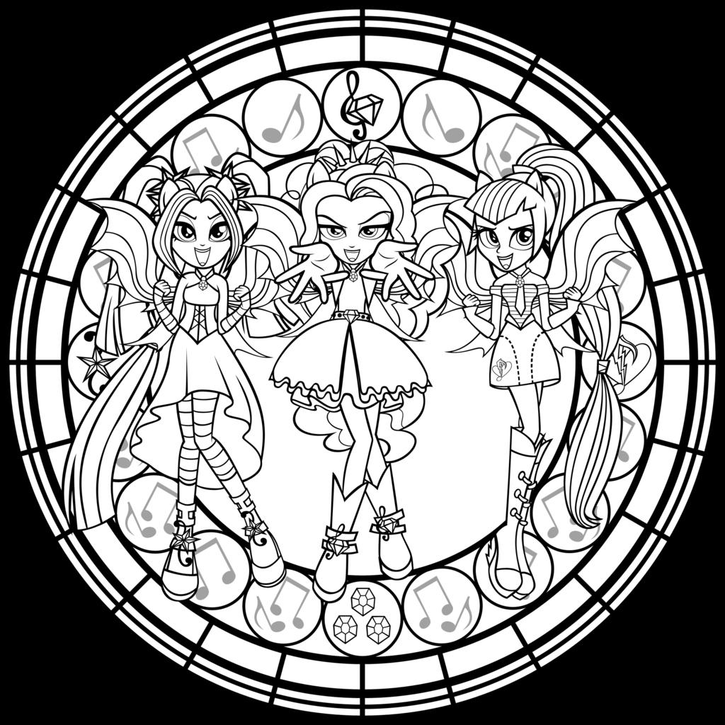 Desenho de As Dazzlings de My Little