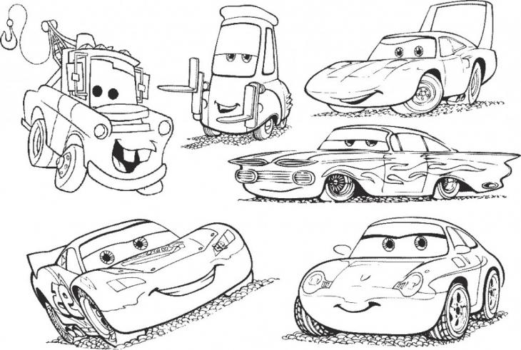Desenho De Amigos Carros Da Disney Para Colorir