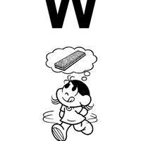 Letra W de wafer
