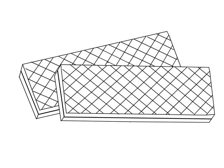 Desenho De Biscoitos Wafer Para Colorir Tudodesenhos