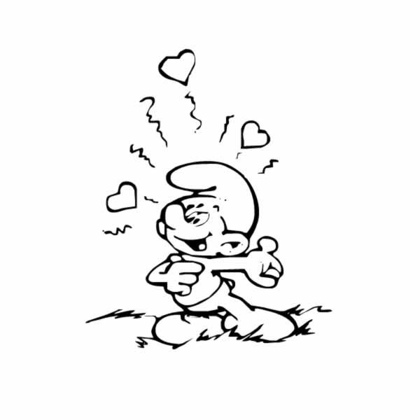 Desenho De Smurf Romântico Para Colorir