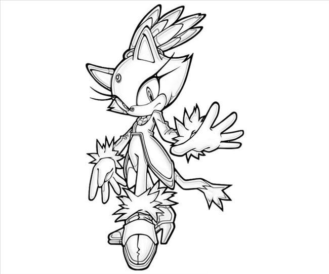 Desenho De Blaze Sonic Para Colorir