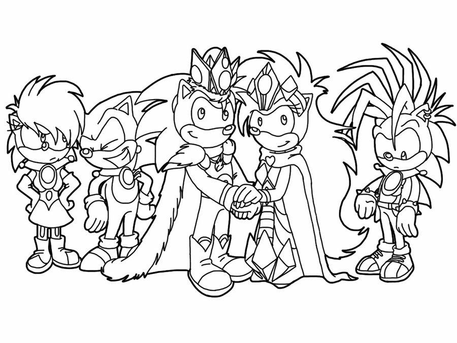 Imagenes De Sonic Para Imprimir: Desenho De Casamento Do Sonic Para Colorir