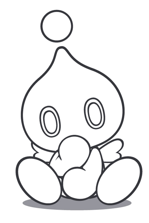 blank chao coloring pages - photo#1