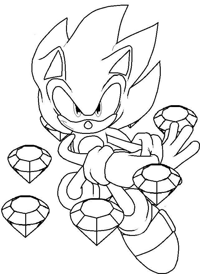 Desenho de Dark Sonic para colorir Tudodesenhos